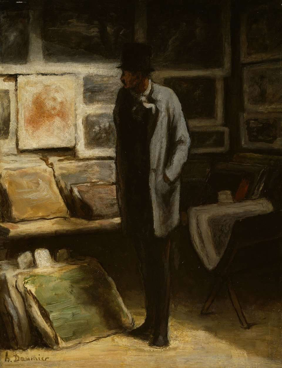 Honoré Daumier, The Print Collector, c. 1857/63, Art Institute of Chicago