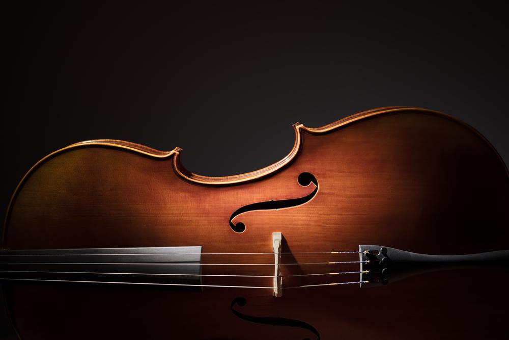Cello-black-background