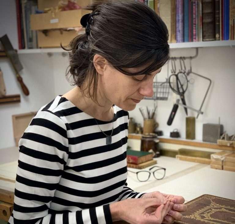 Natasha Herman Redbone Bindery at Work