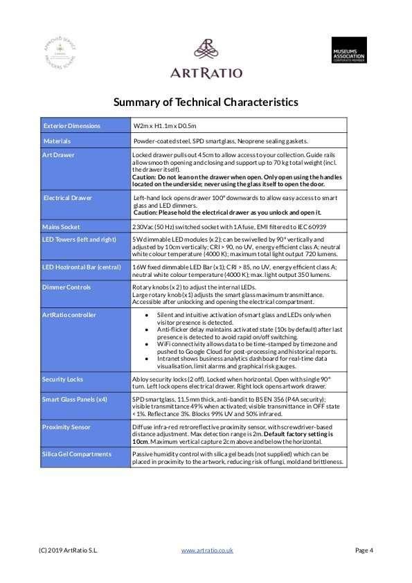 Newton Table Datasheet