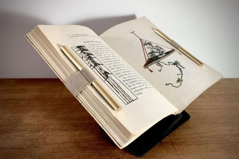 Redbone Bindery Open Book Displayed