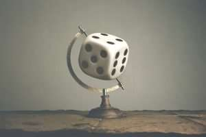 Roll World Dice Global Risk Art