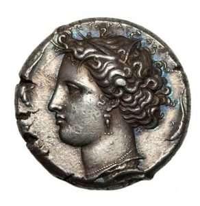 Silver Decadrachm (405-367 BC) Back