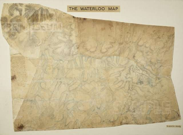 Waterloo Map 1815