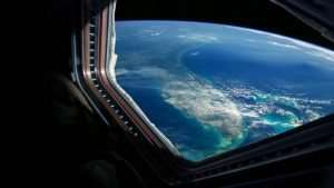 View on earth from space hotel